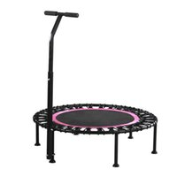 Wholesale indoor trampoline resale online - ZZKD Indoor Fitness Elastic Rope Trampoline Children Adult Trampoline Gym and Home Silent Suction Cup Handrail Trampoline