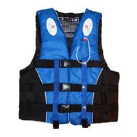 Polyester Adult Life Vest Jacket Swimming Boating Ski Drifting Life Vest with Whistle M-XXXL Sizes Water Sports Man Women Jacket