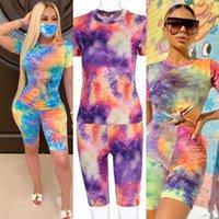 Wholesale summer maternity clothes sale resale online - Hot sale summer Summer women s suit new women s clothing tie dye sports yoga casual suit for women