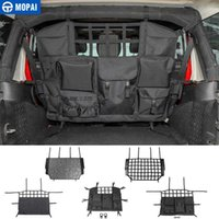 Wholesale car trunk net for sale - Group buy MOPAI Stowing Tidying for Wrangler JK JL Car Trunk Pet Isolation Net Storage Bag Accessories for Wrangler