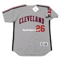 Wholesale brooks running resale online - Cheap Custom BROOK JACOBY Cleveland Stitched Majestic Vintage Away Baseball Jersey Retro Mens Jerseys Running