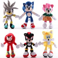 Wholesale plush sonic toys resale online - Christmas toys cm Sonic Plush Toys Sonic the Hedgehog Stuffed Animals Dolls Hedgehog Sonic Knuckles the Echidna Stuffed Animals Kids Gift