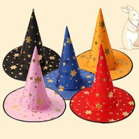 Wholesale cool kids hats for sale - Group buy Kids Children Witch Hats Wizard Hat Halloween Cosplay Costumes Props Hat Halloween Party Decoration Cool Wizard Hats Colors DBC BH3985