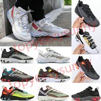 Wholesale royal blue black mens shoes resale online - 2020 react element running shoes for mens womens Pack White Sneakers Brand Men Women Trainer Men Women Designer Running Shoes Zapatos