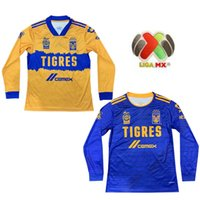 Wholesale long sleeve mx jerseys resale online - 20 MX League Football Club Stars Tigres UANL Long sleeves Soccer Jerseys GIGNAC GUERRON SOBIS DUENAS Custom Adult KidMen Football Shirt