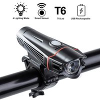 Wholesale bicycle ridding resale online - Waterproof Cycling Front Light mAH Bicycle Light Mode Ridding T6 LED MTB Bike Lights Lamp Torch