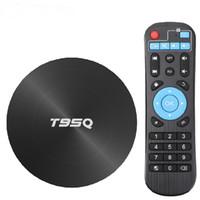 Wholesale android 5ghz quad core resale online - T95Q TV BOX Android GB GB GB Smart TV Box Amlogic S905X3 Quad Core G GHz Wifi BT M K Media Player Set top box
