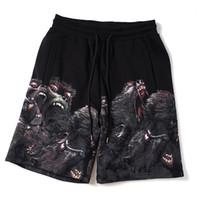 Mens Shorts Stylish Mens Summer Fashion Beach Pants Mens Women Angry Monkey Print Loose Short Pants