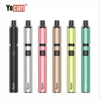 Wholesale vaporizer pen heating coil resale online - 100 Authentic Original Yocan Apex Vape Kit mah Battery Vaporizer Pen With Heating thread Box Mod Quartz Dual Coil by DHL