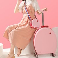 Wholesale spinner travel suitcase set for sale - Group buy PC ABS travel trolley case inch password box shoulder bag back portable suitcase luggage bags woman boarding chassis pack piece set