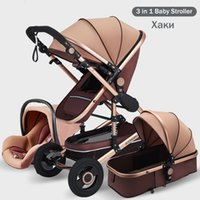 Luxury 3 in 1 Baby Stroller Portable High Landscape Gold Black Baby Carriage Folding Multifunctional Newborn Infant Stroller