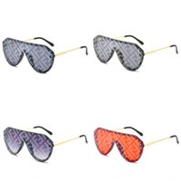 Wholesale hot trendy sunglasses resale online - Hot sun letter F watermark one piece sun glasses trendy large frame one piece all match personalized sunglasses for women Fy806