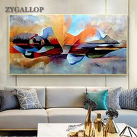 Wholesale buddha paintings for living room for sale - Group buy Lord Buddha Abstract Oil Painting On Canvas Religious Posters and Prints Scandinavian Wall Pictures For Living Room Decoration