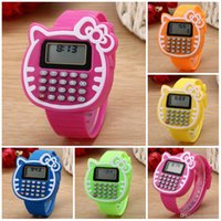 Wholesale calculator watch resale online - Watches For Kids New Relogio Silicone Sports watch Date Multifunction Kids Watches Calculator Wrist Watch