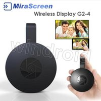 Wholesale cgjxsMirascreen G2 G2 Wireless Wifi Display Dongle Receiver p Hd Tv Stick Airplay Miracast Media Streamer Adapter Media For Phone Tv