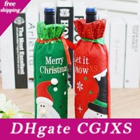 Wholesale wine bottle wraps for sale - Group buy Santa Claus Snowman Wine Bottle Covers Bag Merry Christmas Table Decoration Gift Wrap Party Decoration Za4950