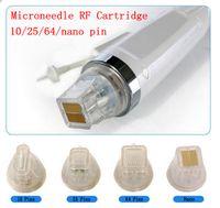 Gold Cartridge Fractional RF Microneedle Disposable 10 25 64 nano Pin Head Microneedling Micro Needle Machine Cartridges Tips Skin Lifting Anti Stretch Marks