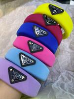 Wholesale p letters resale online - Designer P Headbands Big Kids Sponge Thicken Candy Color Hair Sticks Women Hair Band Old Girls Accessories A4470