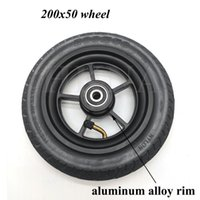 Wholesale car wheel tire parts resale online - 200x50 Wheel Pneumatic Tire With Aluminum Alloy Rim for inch Electric Scooter Balancing Car Inner And Outer Tyre Wheel Parts
