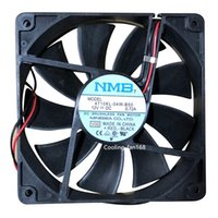 Wholesale 12v fan for cooling resale online - For NMB MAT KL W B50 DC V A mm Chassis cooling fan wires