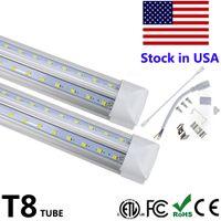 Wholesale tubes resale online - V Shaped Integrate T8 LED Tube Feet LED Fluorescent Lamp W ft rows LED Light Tubes Cooler Door Lighting