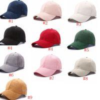 Wholesale suede caps resale online - Baseball Caps Women Men Solid Baseball Hat Casual Hat Adult Suede Plain Visors Adjustable Washable Hat Couples Hats IIA456