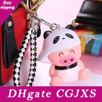 Wholesale pig key ring for sale - Group buy Mini Lovely Key Chain Bag Backpack Pendant Hot Sale Cartoon Pig Keychain Cute Pig Keyring Outdoor Car Key Ring Party Gift Custom Bc Bh1551