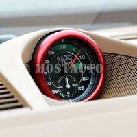 Wholesale compass cover resale online - For Porsche Panamera Aluminium Center Clock Compass Cover Ring Trim