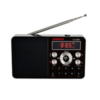 Wholesale records player for sale - Group buy XHDATA D BT mini mp3 player stereo radio fm portable screen can support recording MP3 repeat speaker function with TF card
