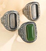 Wholesale vintage sterling silver ring mountings resale online - 10 mm STERLING SILVER men Semi Mount Bases Blanks base blank Pad VINTAGE wedding rings ring Setting set diy A5347