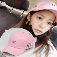 Wholesale rockets cap for sale - Group buy Rocket Girl Lai Meiyun same style hat pink cute expression hat Ins student female baseball cap baseball cap