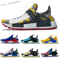 Wholesale 2019 human race hu trail x pharrell williams Nerd running shoes for men black white blue green cream off mens trainers sports sneakers RG06
