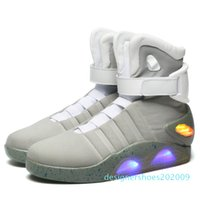 Wholesale air mag future resale online - Air Mag Shoes Marty Casual LED Shoes Back To The Future Glow In The Dark Gray Black Mag Marty McFlys Shoes no d09