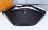 Wholesale fanny pack purse leather resale online - Genuine Leather famous brand DISCOVER Bumbag Cross Body Shoulder Bag monogrram canvas Waist Bags Cross Fanny Pack Bum Waist Bags purse