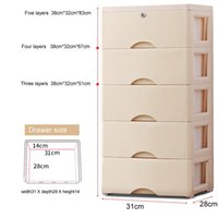 Wholesale baby clothes storage boxes resale online - Layer Plastic Drawer Closet Clothes Storage Collection Type Five Box Toy Sorting Layer Drawer Cabinet Multi Box Baby Drawers sqcvXO wphome