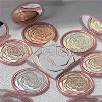 Wholesale flower pressing for sale - Group buy Flower Glow Powder Colors Diamond Bronze body Highlighter Powder Face Makeup Brightening Highlighting Pressed Powder