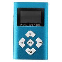 Wholesale USB socket LCD Sn Mini MP3 Player GB Micro SD TF Blue