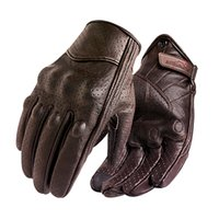 Wholesale motocross gloves sale resale online - New Motorcycle Gloves Men Touch Screen Leather Electric Bike Glove Cycling Full Finger Motorbike Moto Bike Motocross Luvas Sale