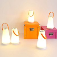Wholesale best table lamps resale online - The Best USB Rechargeable Portable Atmospheres Light LED Touches Switch Dimmable Bedroom Table Lamp