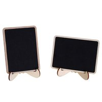 Wholesale chalkboard prices resale online - 10Pcs Pack DIY Mini Chalkboard Square Wooden Chalkboard Wedding Decoration Price Display Stand For Christmas Party Wedding Decor