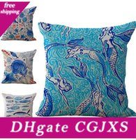 Wholesale custom bedding for sale - Group buy Starfish Mermaid Pillow Case Cushion Cover Linen Cotton Throw Pillowcases Sofa Bed Car Home Decor Pillow Covers Colors Custom Free