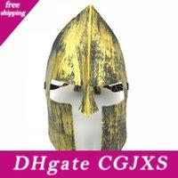 Wholesale full venetian masks for sale - Group buy 50pcs Halloween Vintage Spartan Warrior Mask Knight Hero Masquerade Venetian Full Face Masks For Halloween Christmas Party Decoration