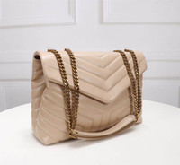 Wholesale women handbags resale online - Designer purses handbags top quality genuine leather women famous Y bags crossbody messenger chain bag LOULOU bag high quality cm