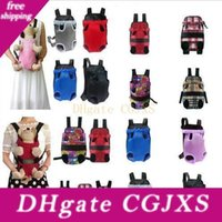 Wholesale cloth backpacks resale online - Pet Bag Dog Backpack Front Chest Portable Cloth Backpack Carriers With Buttons Outdoor Travel Durable Shoulder Bag For Dogs Cats Cfyz131
