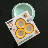 Wholesale small gyro resale online - Decompression magnetic ring magnetic ring hand ring creative adult stress reduction toy fingertip gyro small toy