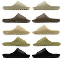 2020 Slides Graffiti Bone Resin Desert Sand Rubber Slippers Summer Brown Flat Men Women Beach Foam Runner size 36-45