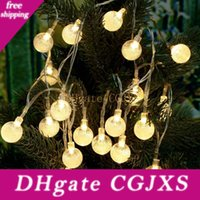 Wholesale outside patio for sale - Group buy Led Outdoor String Lights m leds Crystal Ball Globe Fairy Strip Lights For Outside Garden Patio Party Christmas