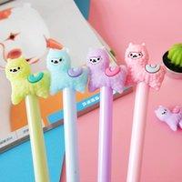 48pcs set Cute Cartoon Alpaca Gel Pen Creative Stationery Office School Stationery Signing Pen Promotion Gift Girls Favorite