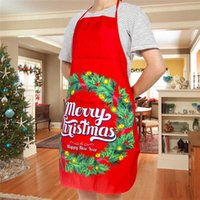 Wholesale sexy men aprons resale online - Christmas Santa Claus Sexy Aprons Fabric Printed Snowman Funny Women Men Xmas Kitchen Cooking Apron Party Atmosphere Decoration