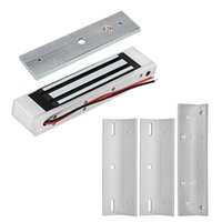 Wholesale electronics for u online – 12V Electromagnetic Locks KG lbs Electric Magnetic Lock ZL U Bracket for Electronic Door Access Control System Waterproof